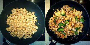 Kurczak z warzywami i pesto