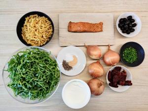 przygotowanie dania z makaronu