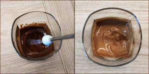 Deser kawowy (Dalgona) przygotowanie